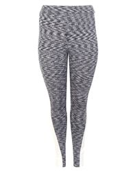 Boohoo - Gray Plus Lucy Contrast Panel Gym Legging - Lyst