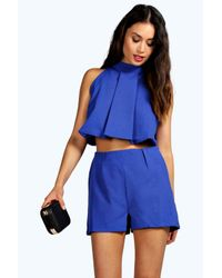 Boohoo - Blue Boutique Tyra Two Piece Zip Off Playsuit - Lyst