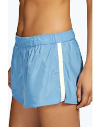 Boohoo - Blue Boutique Selina Side Stripe Runner Shorts - Lyst