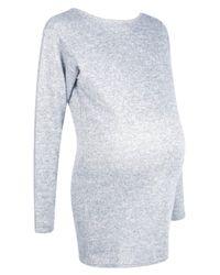 Boohoo - Gray Maternity Lauren Lounge Strappy Back Sweat Top - Lyst