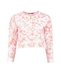 Boohoo - Multicolor Petite Naomi Tie Dye Festival Sweatshirt - Lyst
