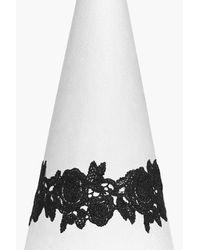 Boohoo - Black Plus Lace Detail Choker - Lyst