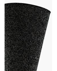 Boohoo - Black Kelly Roll Top Lurex Socks - Lyst