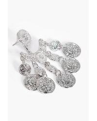 Boohoo - Metallic Amy Chandelier Coin Earrings - Lyst