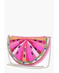 Boohoo | Pink Poppy Watermelon Fruit Cross Body Bag | Lyst