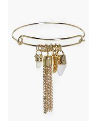 Boohoo - Metallic Maya Charm Arm Cuff - Lyst