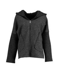 Boohoo Black Alicia Hooded Oversized Coat