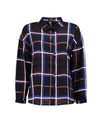 Boohoo - Blue Fiona Check Oversized Shirt - Lyst