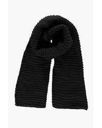 Boohoo   Black Ebony Super Chunky Rib Knit Scarf   Lyst