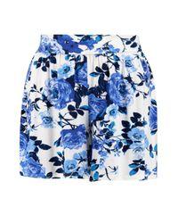 Boohoo - Blue Florrie Floral Print Flippy Shorts - Lyst