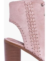 Boohoo Multicolor Tilly Plaited Side Peeptoe Lace Up Shoe Boot