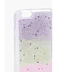 Boohoo - Pink Ombre Glitter Iphone 6 Phone Case - Lyst