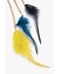 Boohoo - Metallic Lexi Multi Feather Dangle Ear Cuff - Lyst