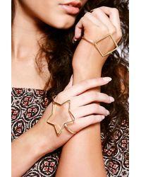 Boohoo - Metallic Sophia Star And Diamante Palm Cuff Set - Lyst