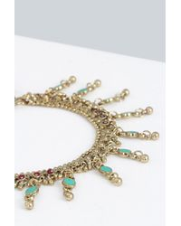 Boohoo - Metallic Daisy Boutique Anklet - Lyst