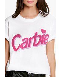 Boohoo - White Lola Carbie Tee - Lyst