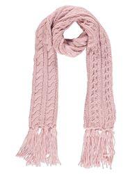 Boohoo | Pink Ruby Knitted Tassel Scarf | Lyst