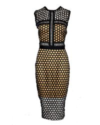 Boohoo - Black Boutique Lia Crochet Lace Panelled Midi Dress - Lyst
