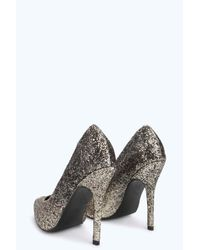 Boohoo | Gray Alice Glitter Ombre Pointed Courts | Lyst