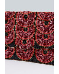 Boohoo - Red Boutique Edie Embellished Clutch Bag - Lyst