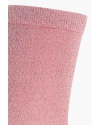 Boohoo - Pink Josie Lurex Ankle Socks - Lyst