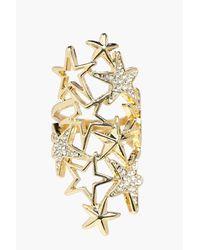 Boohoo - Metallic Leah Boutique Diamante Star Statement Ring - Lyst