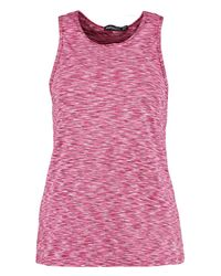 Boohoo - Pink Fit Spacedye Running Vest - Lyst