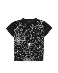 Boohoo - Black Boys Cobweb Print Tee for Men - Lyst