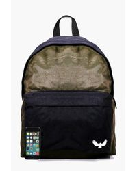 Boohoo - Multicolor Khaki Contrast Panel Canvas Backpack for Men - Lyst