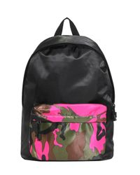Boohoo - Pink Camo Front Colour Blocked Back Pack - Lyst