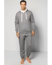 Boohoo - Multicolor Slim Fit Waffle Hooded Tracksuit for Men - Lyst