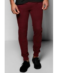 Boohoo - Red Basic Loungewear Joggers for Men - Lyst