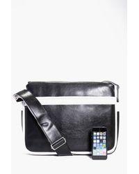 Boohoo - Black Monochrome Pu Cross Body Bag for Men - Lyst
