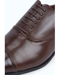 Boohoo - Brown Lace Up Smart Shoe for Men - Lyst