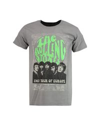 Boohoo - Gray The Rolling Stones License T-shirt for Men - Lyst