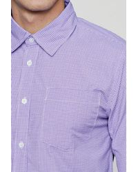 Boohoo - Purple Long Sleeve Check Smart Shirt for Men - Lyst