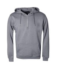 Boohoo - Gray Half Zip Over The Head Hoodie for Men - Lyst