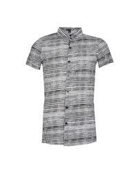 Boohoo - Black Grain Stripe Short Sleeve Shirt for Men - Lyst