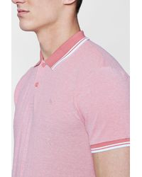 Boohoo - Pink Short Sleeve Pique Polo for Men - Lyst