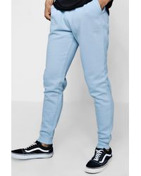 Boohoo - Blue Original Man Embroidered Skinny Joggers for Men - Lyst