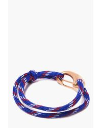 Boohoo - Blue Rope Bracelet With Clasp for Men - Lyst