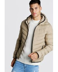 Boohoo Multicolor Quilted Zip Through Jacket With Hood for men