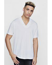 Boohoo White Smart V-neck T-shirt for men