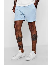 ee452b019bb9d Lyst - Boohoo Short Length Pastel Jersey Shorts in Blue for Men