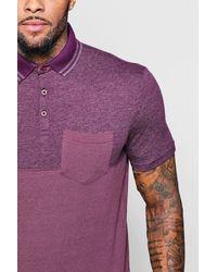Boohoo - Purple Colour Block Polo for Men - Lyst