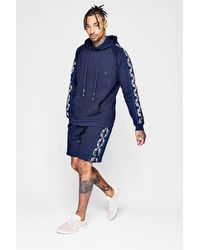 Boohoo - Blue Pepsi X Tiger Flock Print Short Tracksuit for Men - Lyst