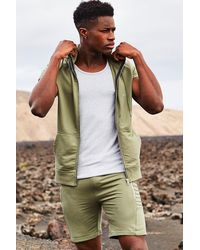Boohoo | Green Sleeveless Zip Through Hoodie for Men | Lyst