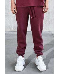 BoohooMAN - Purple Loose Fit Heavyweight Wash Joggers for Men - Lyst