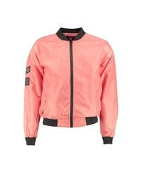 Boohoo | Pink Badged Bomber for Men | Lyst
