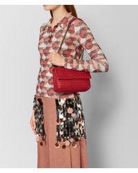 Bottega Veneta - China Red Intrecciato Nappa Baby Olimpia Bag - Lyst